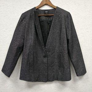Kate Spade Saturday Black Tweed Career Blazer